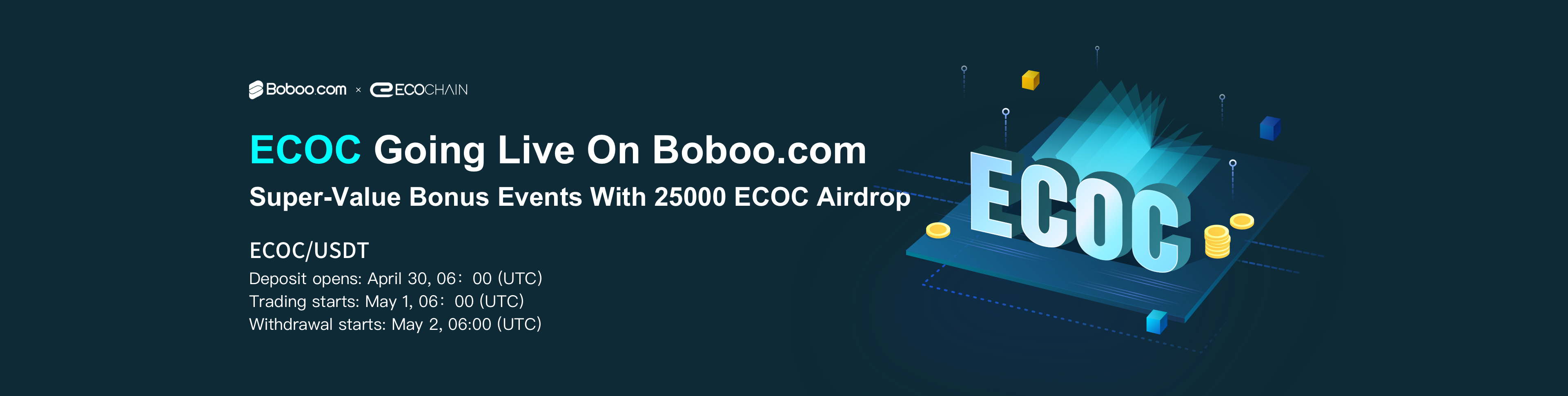 ECOCHAIN joins Boboo Exchange platform